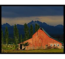 Old Barn and Cascades Photographic Print