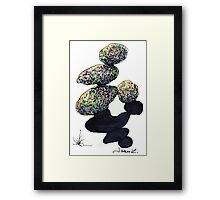 c8-Frivolously Stacked Boulders Framed Print