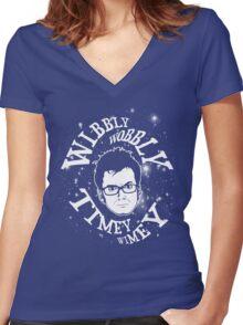 Wibbly-wobbly, timey-wimey... stuff. Women's Fitted V-Neck T-Shirt