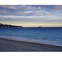 Cote d'Azur Coastline at Dusk  Photographic Print