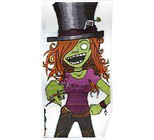 Zombie Gamer Girl Poster
