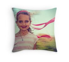 Life Rushes By.... Throw Pillow