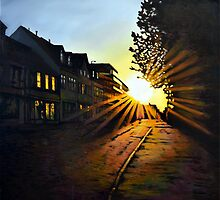 Morning Light and Side Street Shadows. by ForrestFineArts