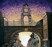 Eastgate Clock - Chester by ForrestFineArts