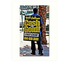 Canal Street Walking Billboard Art Print