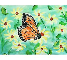 At last I made a butterfly,,,watercolor Photographic Print