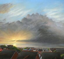 View Out To Sea - New Brighton Storm by ForrestFineArts