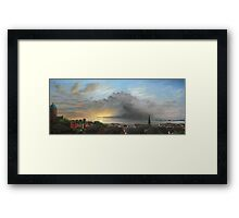 View Out To Sea - New Brighton Storm Framed Print