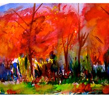 Red Trees by Nik Scott