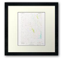 USGS Topo Map Oregon Upton Mountain 281945 1973 24000 Framed Print