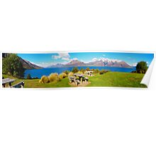 Lake Wakatipu - Central Otago - New Zealand Poster
