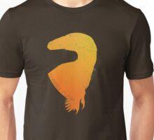 Orange Warmth Deinonychus Silhouette Unisex T-Shirt