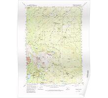 USGS Topo Map Oregon Broken Top 282278 1959 62500 Poster