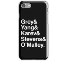 Greys Anatomy Original 5 - White Lettering iPhone Case/Skin