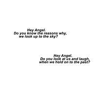 One Direction Hey Angel Lyric Black Text by Itzmiri