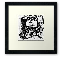 CPU Heaven Linework Framed Print