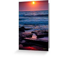 Indian Ocean Sunset Greeting Card