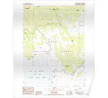 USGS Topo Map California Sagebrush Butte 294896 1988 24000 Poster