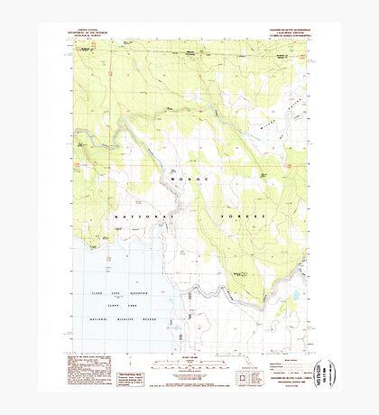 USGS Topo Map California Sagebrush Butte 294896 1988 24000 Photographic Print