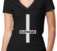 The New Supreme Women's Fitted V-Neck T-Shirt