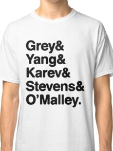Greys Anatomy Original 5 - Black lettering Classic T-Shirt