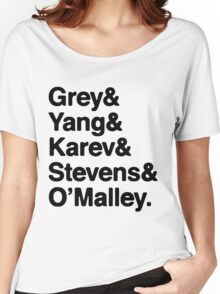 Greys Anatomy Original 5 - Black lettering Women's Relaxed Fit T-Shirt