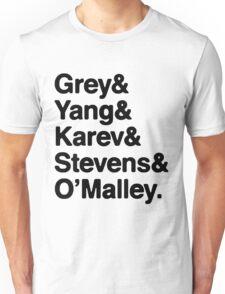 Greys Anatomy Original 5 - Black lettering Unisex T-Shirt