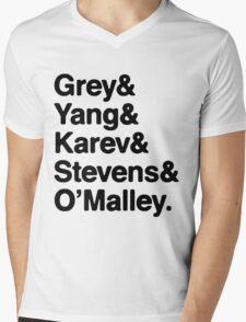 Greys Anatomy Original 5 - Black lettering Mens V-Neck T-Shirt