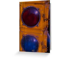 Red light Blue light Greeting Card