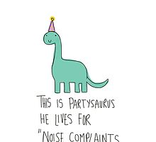 Partysaurus by twisteddoodles