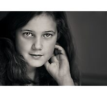 The poetry that fills her heart shows in her eyes. Photographic Print