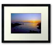 Sunset Over Arran Framed Print