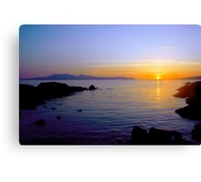 Sunset Over Arran Canvas Print