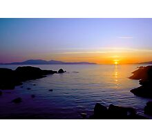 Sunset Over Arran Photographic Print
