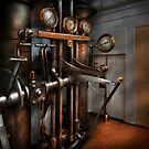 Steampunk - Controls - The Steamship control room by Mike  Savad