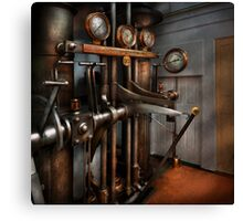 Steampunk - Controls - The Steamship control room Canvas Print