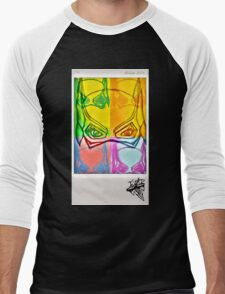 BatGal Polaroid Remake Men's Baseball ¾ T-Shirt