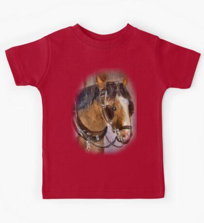 Brown Horse TEE SHIRT/BABY GROW/STICKER Kids Tee