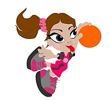 Basketball Girl Photographic Print