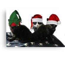3 Little Kittens Lost Their Mittens Canvas Print