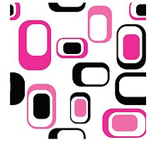 modern graphic design,fun colors,pink,black,white,retro,70's,style,patterntrendy,girly,cute,fun,happy by Healinglove