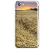 The Wheat Field at Sunset iPhone Case/Skin