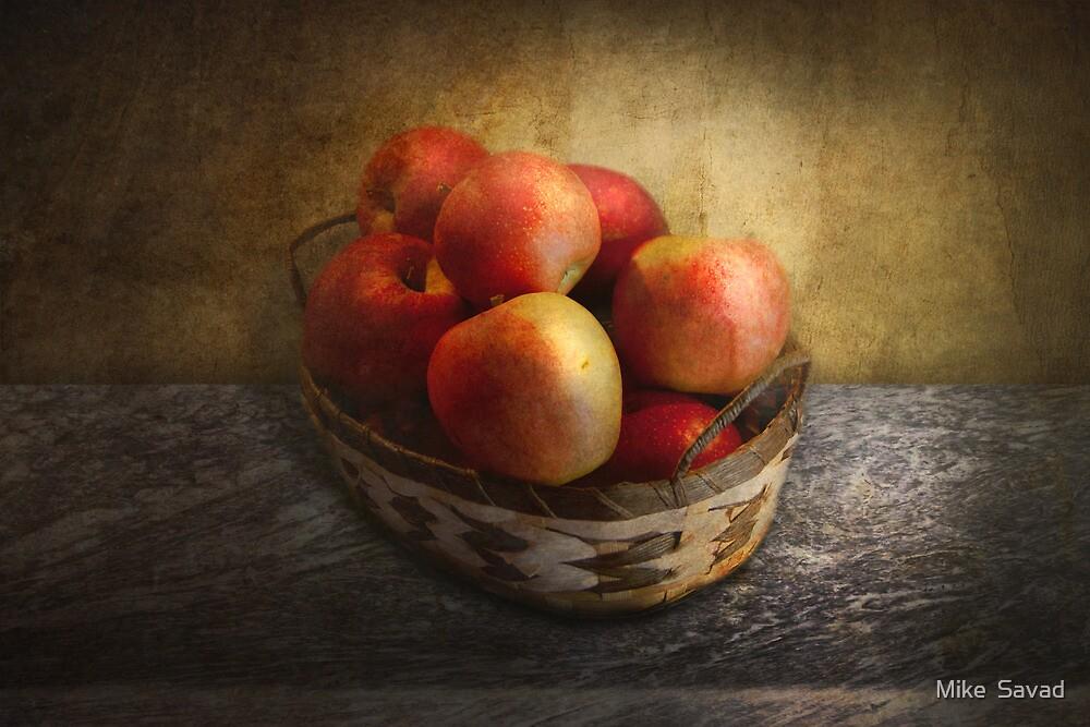 Food - Apples - Apples in a basket  by Mike  Savad