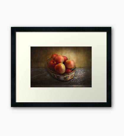 Food - Apples - Apples in a basket  Framed Print