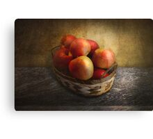 Food - Apples - Apples in a basket  Canvas Print