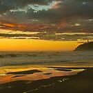 Golden Beach by haybales