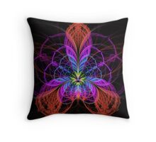 Flower Web Throw Pillow