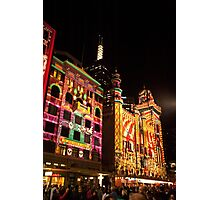 0339 Melbourne - White Night 13 Photographic Print