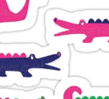 Cute Alligator and Whale Design Sticker