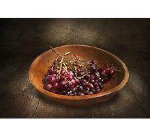 Food - Grapes - A bowl of grapes  Photographic Print